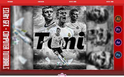 Adobe Photoshop Tutorial Toni Kroos l Sports Poster Design
