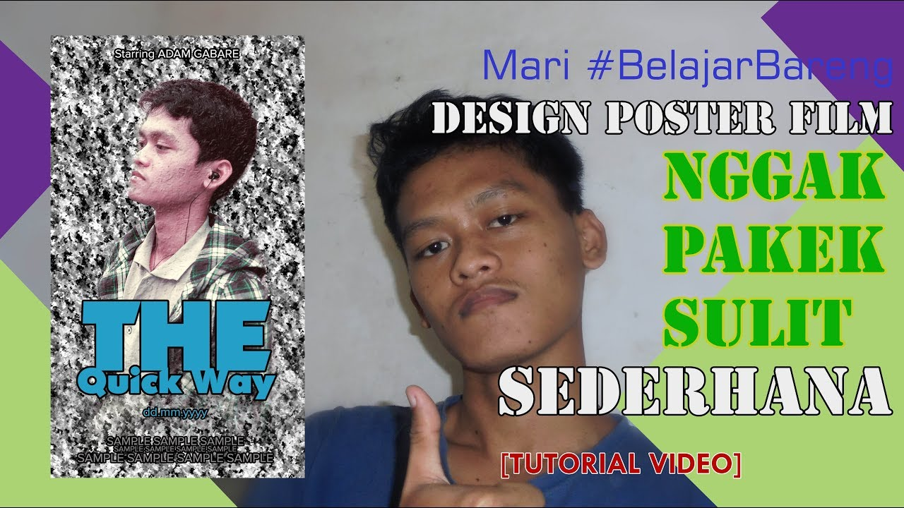 [TUTORIAL] Mari Belajar Bareng! Buat Design POSTER FILM Sederhana | Adobe Photoshop