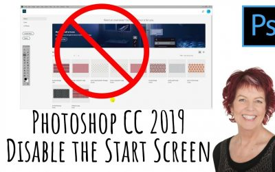Photoshop CC 2019 – Disable the start screen