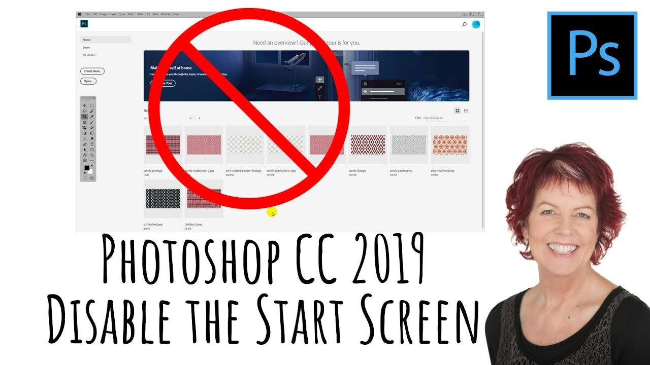 Photoshop CC 2019 - Disable the start screen