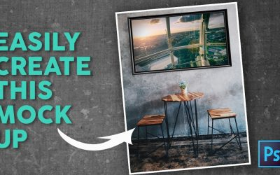 Photoshop Tutorial: How to create a lifestyle Mockup to display your photography
