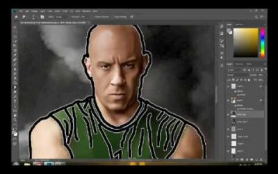 Final Design of Vin Diesel in Adobe Photoshop