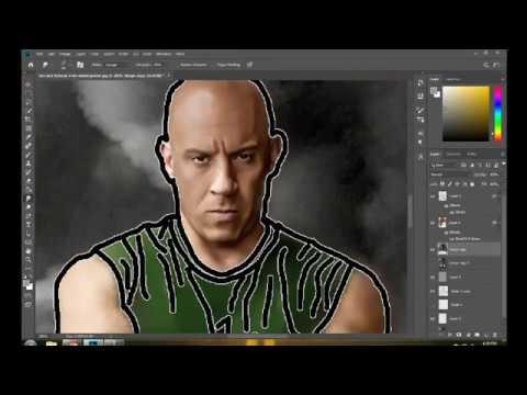 Final Design of Vin Diesel in Adobe Photoshop