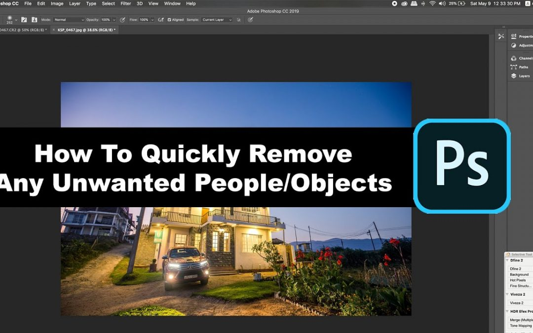 How to Remove Object using Adobe Photoshop, Stamp tool