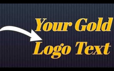 Gold  Logo Photoshop Tutorial! Photoshop Gold Text Effect