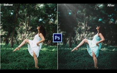 photoshop tutorial | How to edit outdoor Portrait | blur and dramatic look |