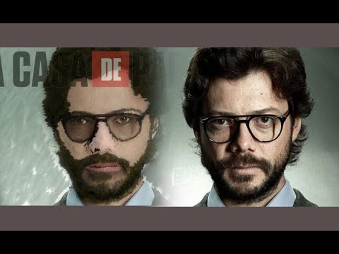MONEY HEIST - PROFESSOR IN ADOBE PHOTOSHOP