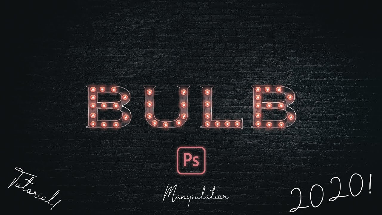 How to create a 3D Bulb Sign Text Effect in Adobe Photoshop 2020!