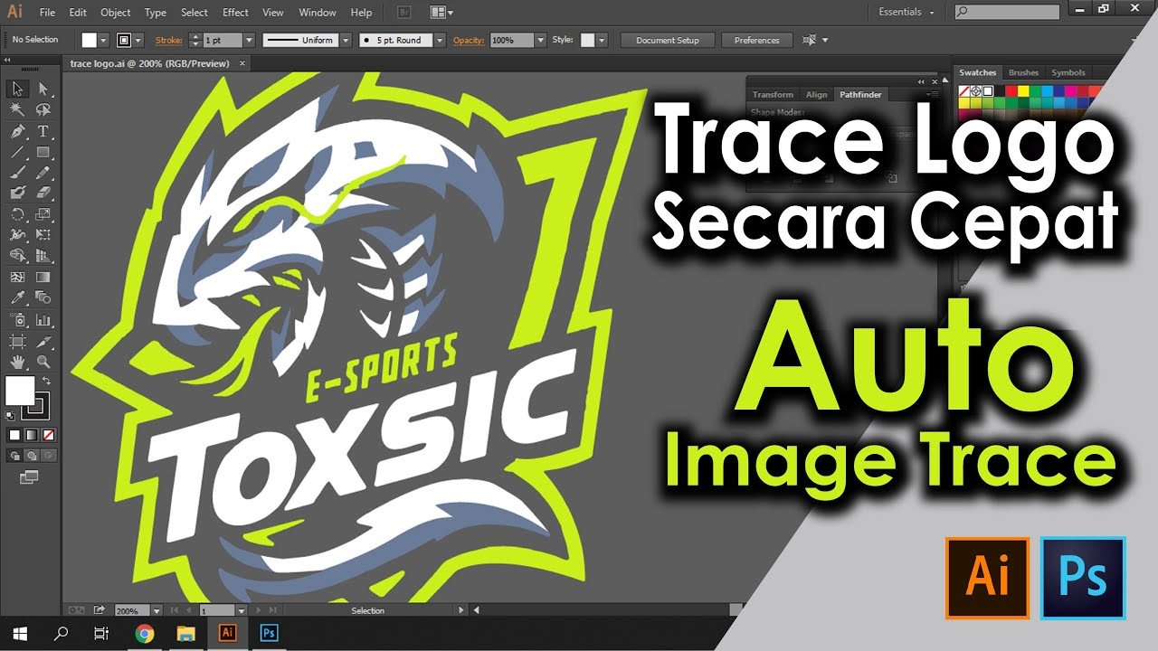 Vector / Trace Logo atau gambar - Adobe Illustrator Tutorial & Photoshop