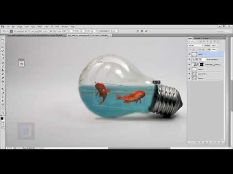 Adobe Photoshop Tutorial Photo Manipulation Water Splash in Bulb Video 12 May 2020
