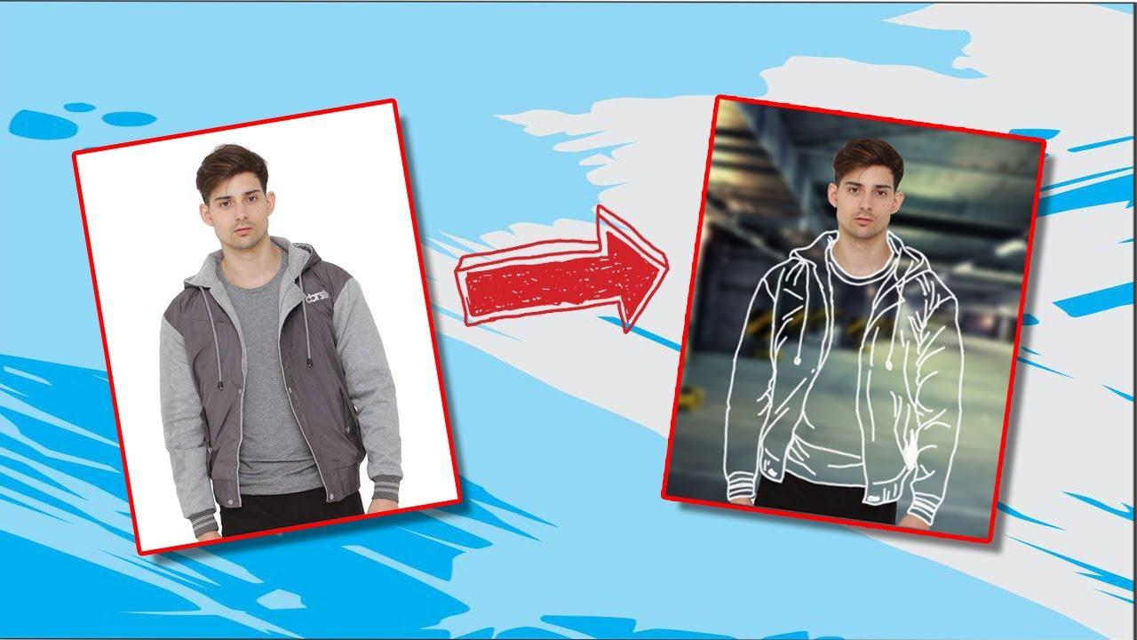 Tutorial edit baju menjadi Transparant - Adobe Photoshop