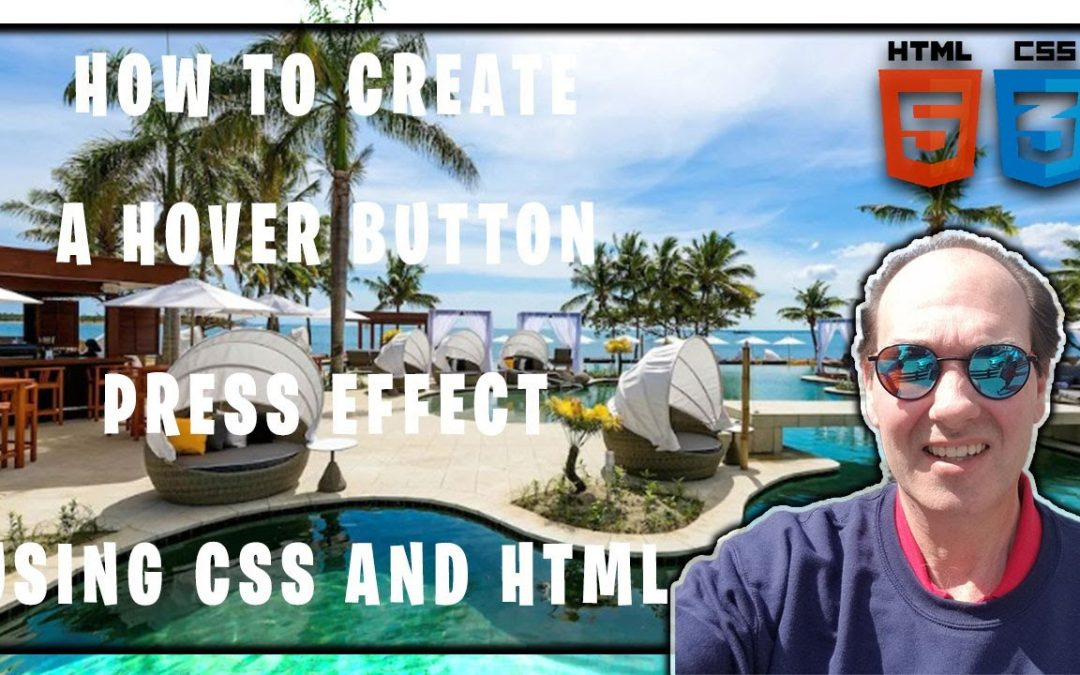 How To Create A Hover Button Press Effect Using CSS and HTML | CSS HTML Tutorial