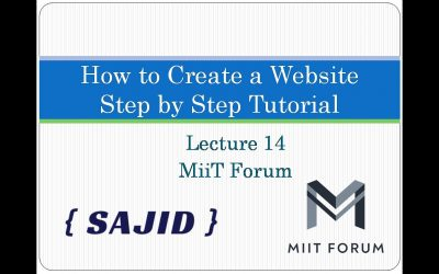Do It Yourself – Tutorials – How To Create A Website Using HTML And CSS | Step By Step Website Tutorial 2020| Lecture 14