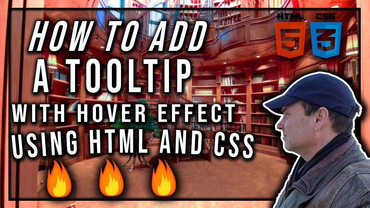 How To Add A Tooltip With Hover Effect Using HTML and CSS | Web Development
