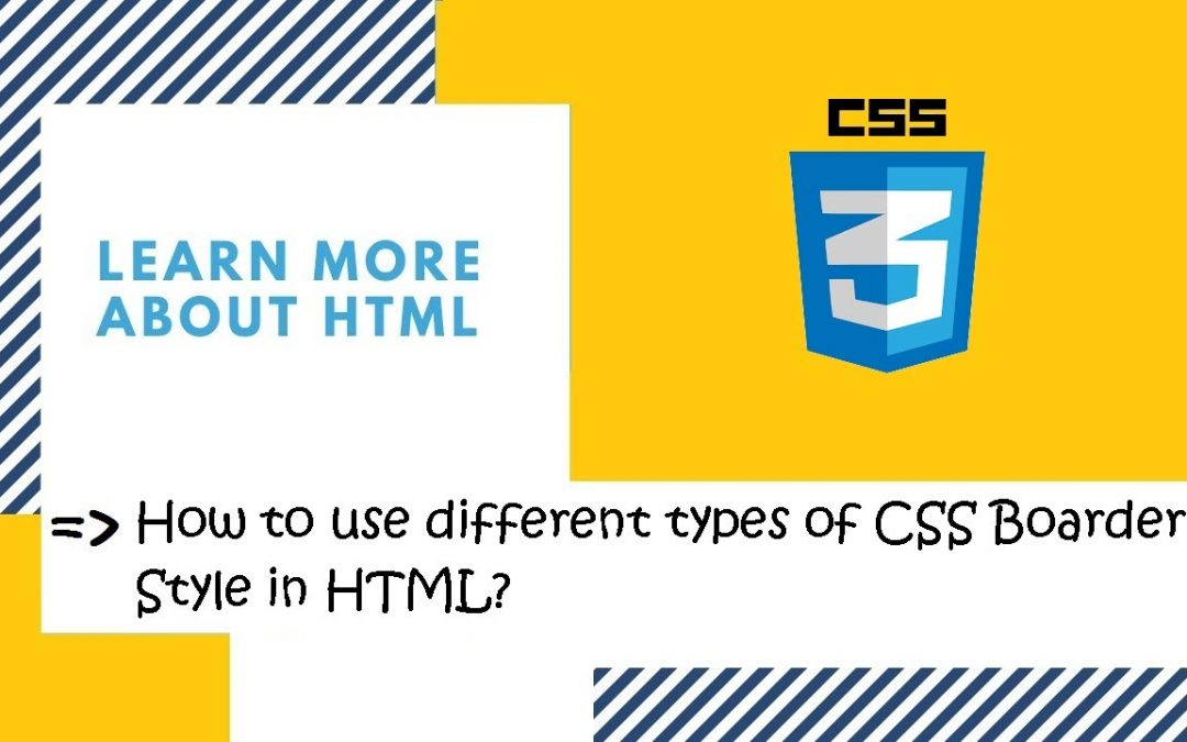 Introduction to CSS | 29. Use different types of CSS Border  Property in HTML? | CSS in Hindi