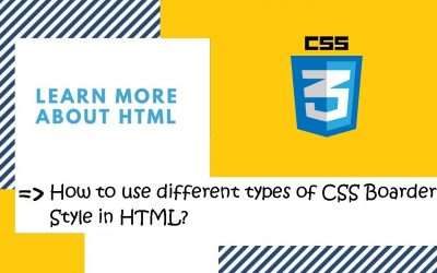 Do It Yourself – Tutorials – Introduction to CSS | 29. Use different types of CSS Border  Property in HTML? | CSS in Hindi