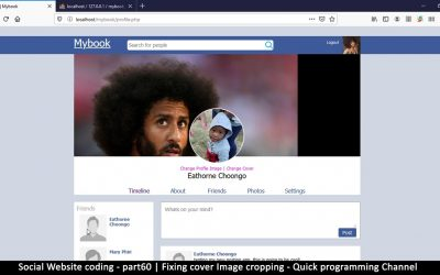 Do It Yourself – Tutorials – Social Website from scratch – Part 60 – Fixing cover Image cropping | OOP PHP with MYSQL Database