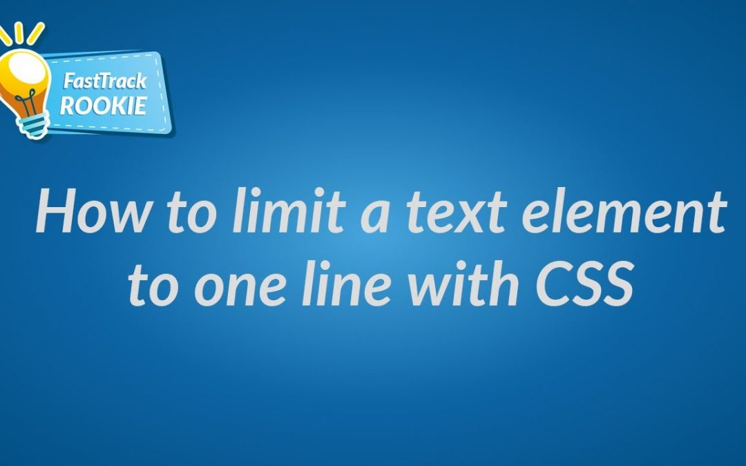 How to limit a text element to one line with CSS
