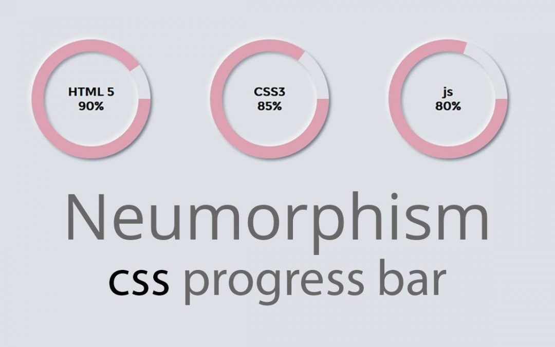 How to Create Neumorphism Circular Progress Bar with only css | HTML & CSS | web cifar 2020