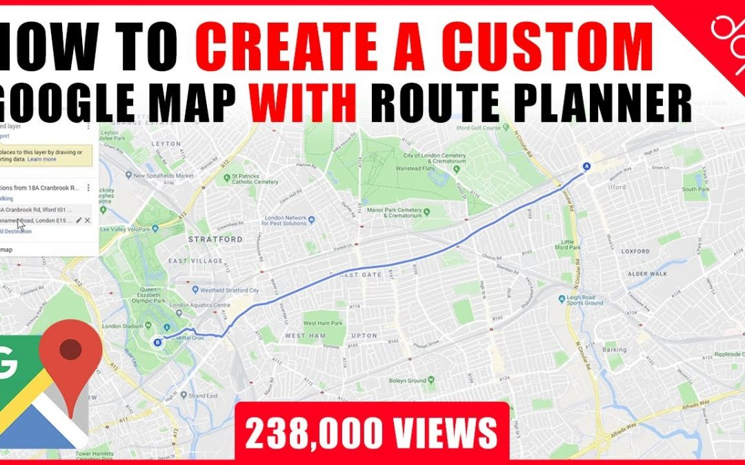 Do It Yourself – Tutorials – How to create a custom Google Map with Route Planner and Location Markers – [ Google Maps Tutorial ]