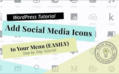 Add Social Media Icons to WordPress Menu (2019)