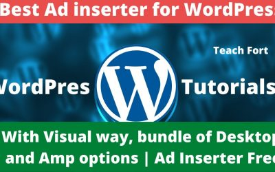 Best Free Ad inserter for WordPress with Visual way, bundle of Desktop and Amp options | Ad Inserter