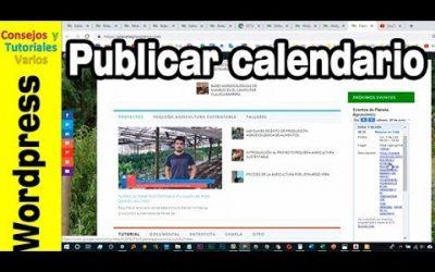 Cómo publicar un evento en wordpress con Google calendar