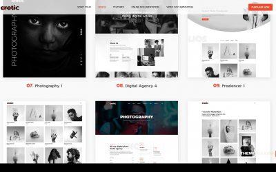 Cretic – Creative Agency WordPress Theme portfolio creative agency Tsukina