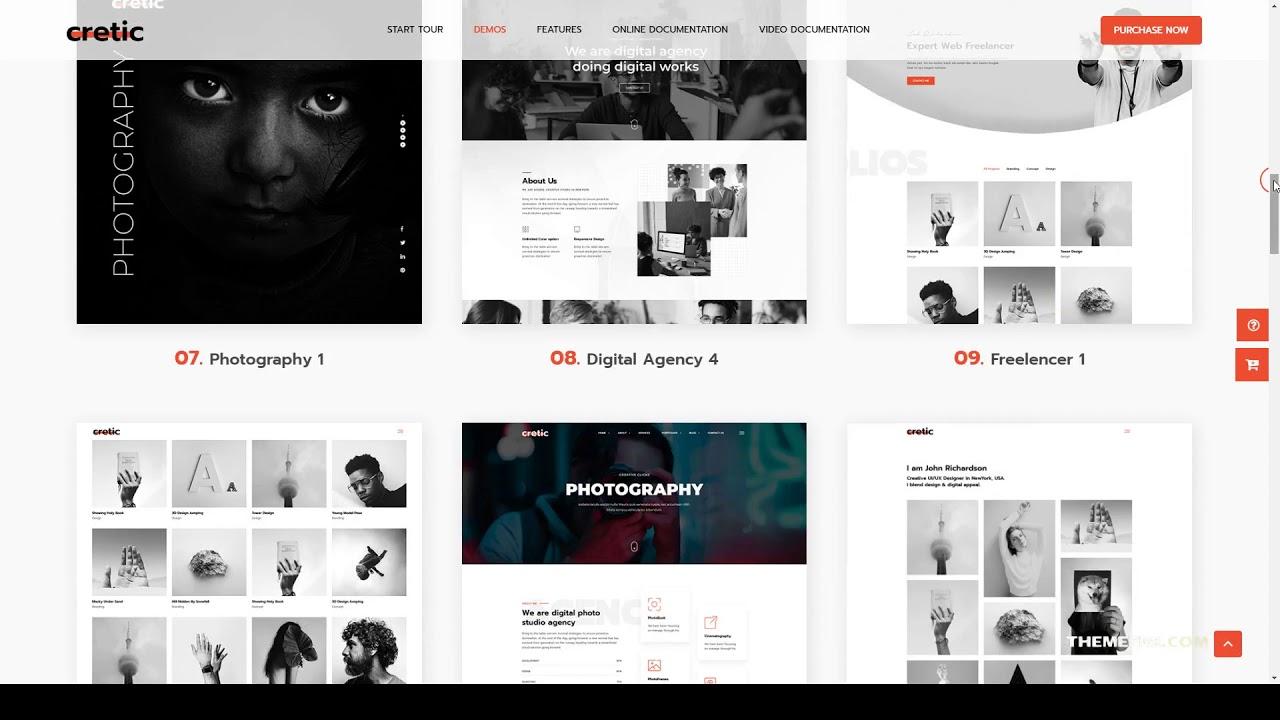 Cretic - Creative Agency WordPress Theme portfolio creative agency Tsukina