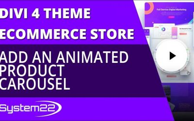 Divi 4 Ecommerce Add An Animated Product Carousel 😎