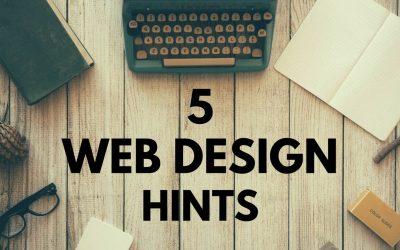 Do It Yourself – Tutorials – 5 Website Design Hints. Web Design Tutorial For Beginners.