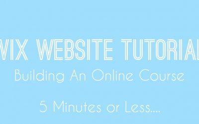 Do It Yourself – Tutorials – Building An Online Course in Wix – Wix Video Course – Wix Beginners Tutorial 2018