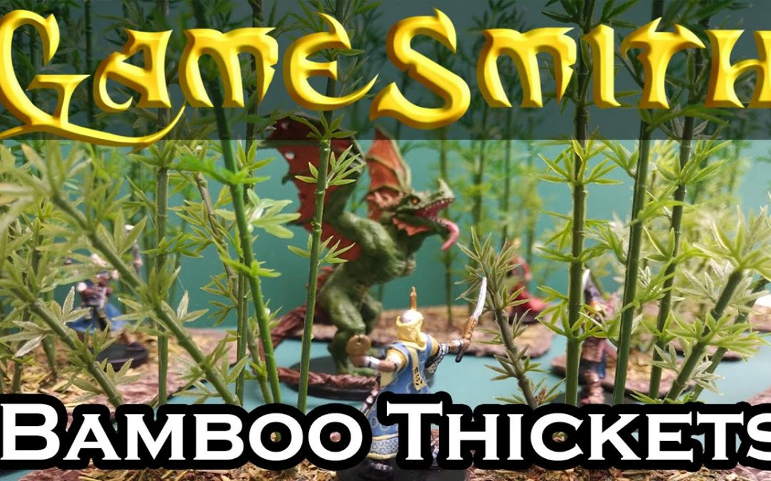Building Bamboo Thickets Scatter Terrain for your Tabletop Game (2020) GameSmith S01E027