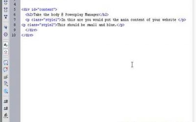 Do It Yourself – Tutorials – CSS Tutorial to build your own CSS website – Part 7