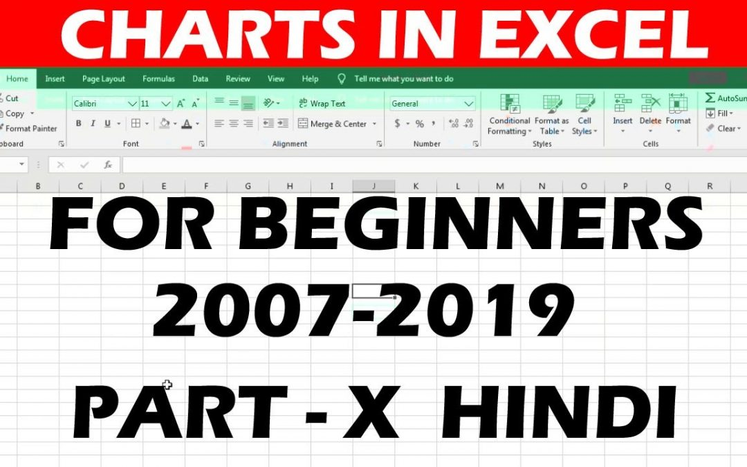 Charts in Microsoft Excel || 2007-2019 || Tutorial for beginners || In Hindi #10