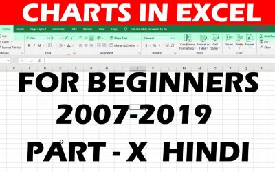 Do It Yourself – Tutorials – Charts in Microsoft Excel || 2007-2019 || Tutorial for beginners || In Hindi #10