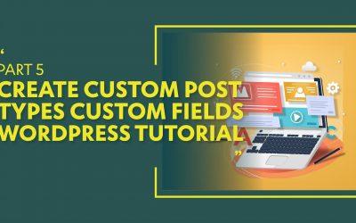 Do It Yourself – Tutorials – Create Custom Post Types & Custom Fields WordPress Tutorial