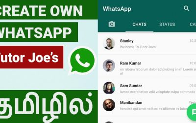Do It Yourself – Tutorials – Create Your Own Whats App  UI Design in Flutter | Tamil | Whats App Clone Tutorial in Tamil