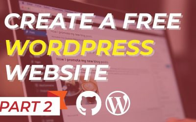 Do It Yourself – Tutorials – Create a FREE Website with FREE Domain name and FREE HOSTING (2020) – Part 2/5