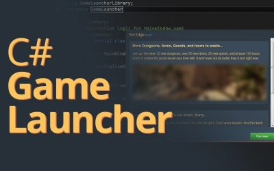 Do It Yourself – Tutorials – Creating a Game Launcher in C# – .NET Tutorial