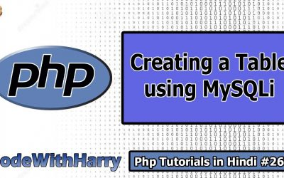 Do It Yourself – Tutorials – Creating a Table in MySQL using php | PHP Tutorial #26
