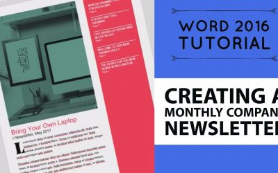 Do It Yourself – Tutorials – Creating a monthly company newsletter – Word 2016 Tutorial [11/52]