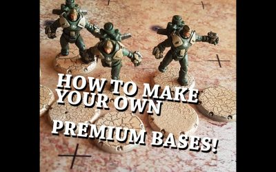"""Do It Yourself – Tutorials – Dust 1947 Tutorial – Make your own """"Premium Bases""""!"""