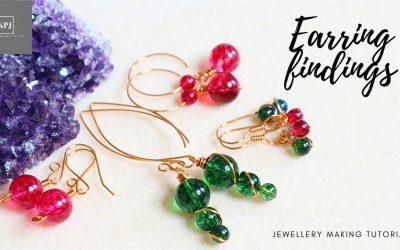 Do It Yourself – Tutorials – Earring Findings – Make Your Own Ear Wires – Jewellery Making Tutorial – Making Earrings