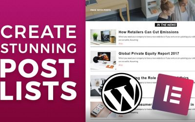 Do It Yourself – Tutorials – Elementor Posts List Tutorial. How to List Blog Posts Attractively?