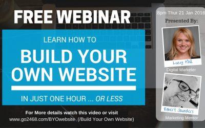 Do It Yourself – Tutorials – Free Website Tutorial & 'Build Your Own Website' Webinar