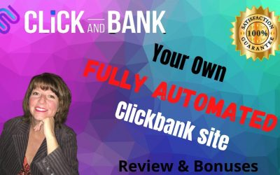 """Do It Yourself – Tutorials – (Full Demo) CLICK AND BANK REVIEW 2020 (Your own Automated """"Clickbank"""" Site in Minutes)"""