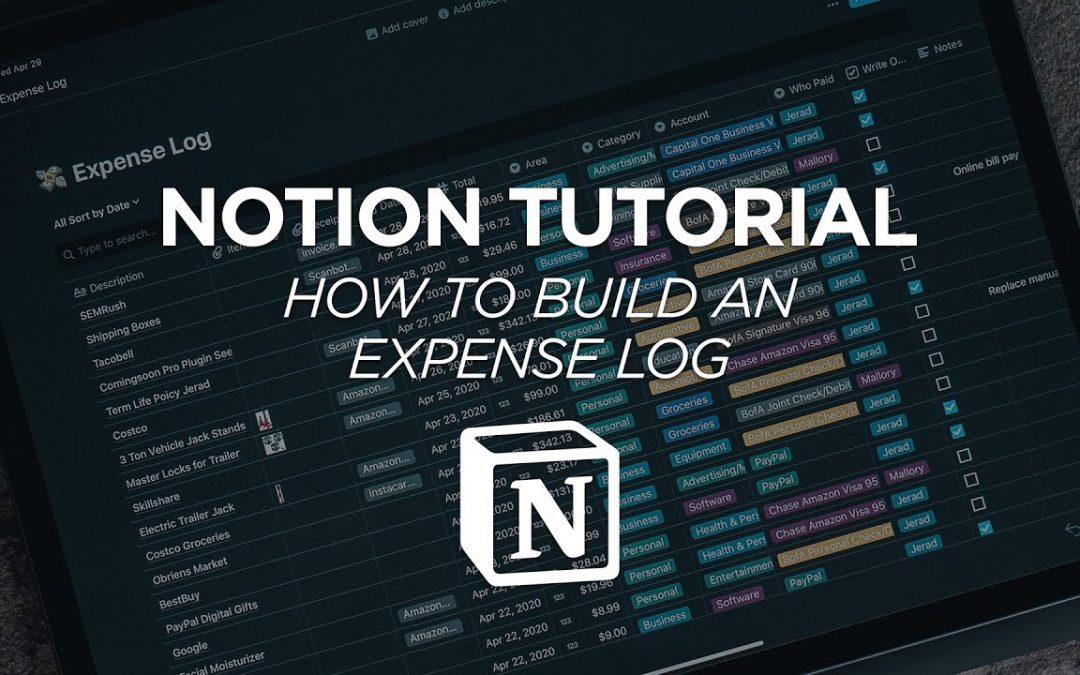 How To Build an Expense Tracker Log in Notion - Notion Tutorial