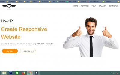 Do It Yourself – Tutorials – How To Create Website Using HTML CSS Bootstrap | Responsive Website Tutorial