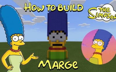 Do It Yourself – Tutorials – How to Build Marge Simpson in Minecraft!!
